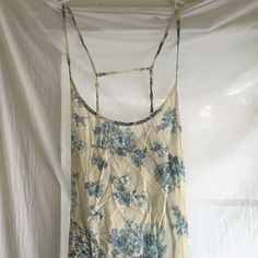 Free People Floral Dress Beautiful, floor length, floral powder blue and cream Free People maxi dress. Basically brand new, tore the tags off and never wore it. Free People Dresses Maxi
