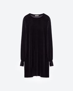 Image 8 of STRAIGHT VELVET DRESS from Zara