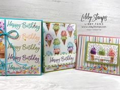 Ice Cream Art, Birthday Cards For Her, Stamping Up Cards, Shaker Cards, Scrapbook Cards, Scrapbooking, Paper Pumpkin, Pattern Paper, Cardmaking