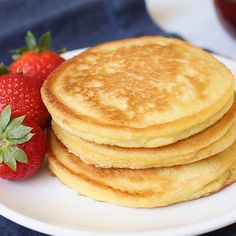 The Best Keto Pancakes recipe that has ever been made in our household! 1 Net Carb per pancake and made with just 6-ingredients this keto pancake mix is so easy to whip together. Sunday morning pancakes will become a normal here on out. #keto #ketopancakes #ketobreakfast #lowcarb #lowcarbdiet #lowcarbrecipes #ketodiet #ketorecipes #recipes #recipe #breakfast #pancakes ~ https://www.thatslowcarb.com Carb Free Pancakes, Keto Pancakes Coconut Flour, Keto Banana Bread, Cream Cheese Pancakes, Coconut Flour Pancakes, Best Keto Pancakes, Keto Diet Breakfast, Low Carb Breakfast Easy, Breakfast Pancakes