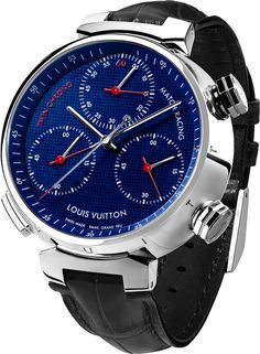 Louis Vuitton Twin Chrono Match Racing - the case is white gold, 45.5mm in diamater and 14.35mm thick