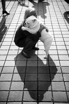 I get a Bella bulldog hug everday... wether i want it or not;) luv my Bella
