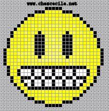 Motifs pour le Point de Croix : Les Smileys
