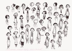 Illustration Art Dessin, People Illustration, Character Design Animation, Character Drawing, Simple Character, Doodle Designs, Doodle Drawings, Creature Design, Characters