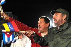 ugo Chávez tuvo en el líder cubano Fidel Castro un mentor que le orientó desde su ascenso político en Venezuela y le asistió en la adversidad.