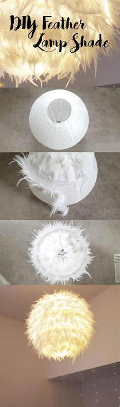 DIY feather lampshade
