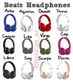 """""""The signs as Beats Headphones """" by jennamcg ❤ liked on Polyvore featuring Beats by Dr. Dre"""