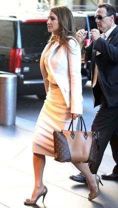 Queen Rania with Louis Vuitton W bag - NYC