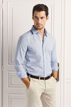 David Gandy for Massimo Dutti 2013 (NYC Limited Edition) Business Dress, David James Gandy, Smart Outfit, Dolce E Gabbana, Herren Outfit, Men Looks, Smart Casual, Look Cool, Mens Suits