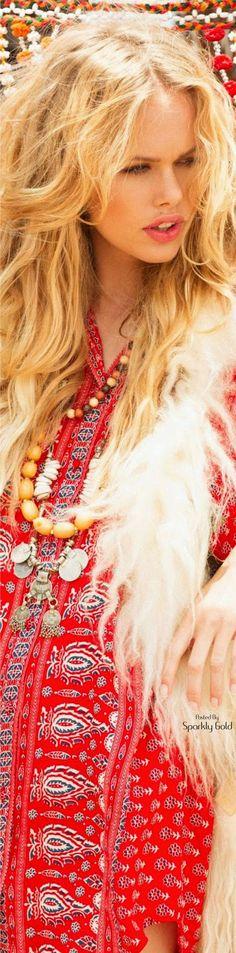 Bohemian Gypsy, Bohemian Style, Boho Chic, Rocker Chic, Free Spirit, Colour Images, Boho Fashion, Red And White, Girly