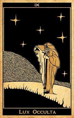 Seyzorith le scrutateur, héro lhankorin du l'aurore avec ses attributs : quelques étoiles éclaire son chemin. - Manque la chouette (animal marquant un de ses attributs symboliques)