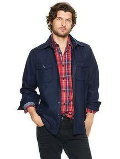 Wool shirt jacket   Gap