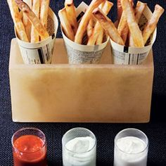 French Fries With Three Dips