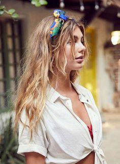 Maneiras de usar lenço no cabelo  inspirações de lenços 16c0c4ba9e5