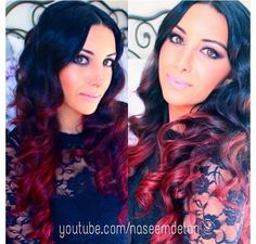 Red Ombre I think this is going to be my new hair color❤