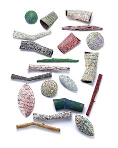 Heejoo Kim Brooch: Untitled, 2015 Enameled copper 1.5 x 13.5 cm ~ 4.5 x 10 cm From series: Colored seeds .