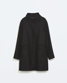 WOOL COAT WITH FUNNEL COLLAR-Coats-Outerwear-WOMAN | ZARA United States