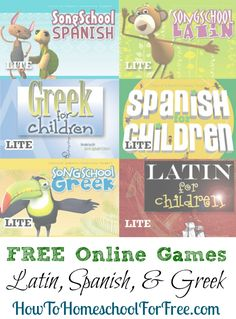 Get access to several FREE languange learning games for learning Spanish, Latin, and Greek!