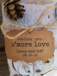 50 Sending You S'more Love Favor Tags by leafyvinedesign on Etsy, $35.00