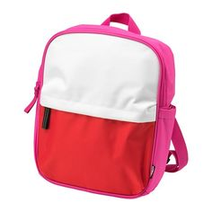 IKEA - STARTTID, Backpack, The adjustable and padded shoulder straps keep the backpack firmly in place and make it feel comfortable to wear. Lock Set, Online Checks, Ikea Us, Design Your Life, Short Trip, How To Make Shorts, Backpack Bags, Pink White, Take That