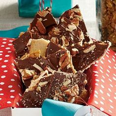 Shortbread serves as a base for this chocolaty pecan toffee. Pecan-Toffee Shortbread makes excellent food gifts, but make extra because it'll be hard to give this sweet treat away.