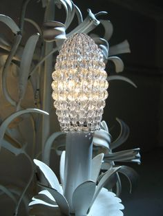 Small Faceted Glass Beaded Light Bulb Cover, Chandelier Shade, Sconce Shade, Candelabra Shade, Shabby Chic Lamp Shade  This beaded light bulb cover is used to diffuse the light on bare light bulbs. The cover is constructed with an open seam which allows removal from the bulb. It fastens at the base with a hook-and-eye closure. The shape is achieved with Czech round faceted glass beads in graduating sizes of 2mm to 8mm strung on 20-28 gauge Bright Silver, Bright Brass, Antiqued Bronze or…