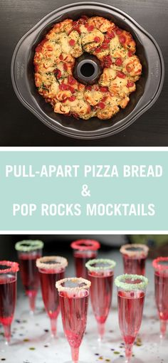 This Pull-Apart Pizza Bread recipe is the perfect addition to any party menu. It's fun to eat, easy to share, and even easier to make. Then tickle your taste buds with our Pop Rocks-rimmed Sparkling Cider!