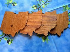 Ohio Shaped Drink Coasters by OhioCoasters on Etsy, $28.00