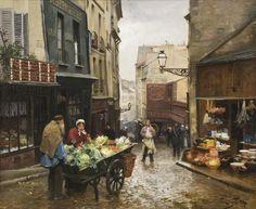 Mouffetard Street, Paris, Victor Gabriel Gilbert. French (1847 - 1933)