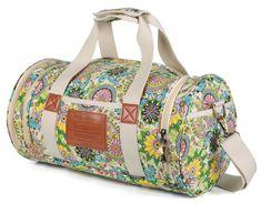 Lady s Gym Handbag Canvas Hawaii Duffel Women Sports Bag with Shoes  Compartment e7b48aa6f3