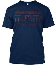 Men T-shirt Football Dad