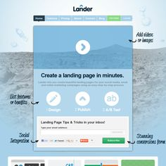 Landerapp - landing page builder and A/B testing system - $25/mo