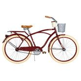 Found it at Wayfair - Deluxe Men's Cruiser Bike with Basket and Beverage Holder