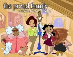 the proud family…..for some reason this grandma reminds me of mama odie from the princess and the frog