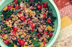 Mexican black bean quinoa salad