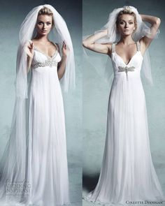 Our top 2 favorites from Collette Dinnigan 2013 Enchanted Bridal Collection. @ http://weddinginspirasi.com/2013/01/31/collette-dinnigan-2013-enchanted-bridal-collection/