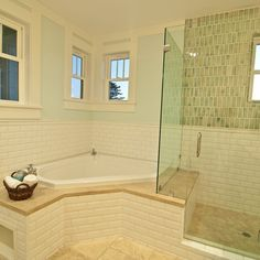 bathroom idea pictures glass enclosed shower with bench connected to the platform 10406