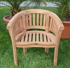 Perfect TEAK Bananensessel Gartensessel Gartenstuhl Sessel Holzsessel Gartenm bel Holz sehr robust Modell COCO von AS S