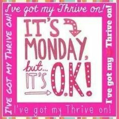No more Monday Blues for this girl. Thrive with me!!! http://rachelhaas.le-vel.com/