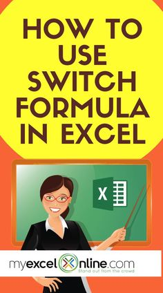 SWITCH Formula in Excel - Learn how to evaluate multiple conditions in Excel in just a few steps! I will show you in this free tutorial. Excel Cheat Sheet, Microsoft Excel Formulas, Excel For Beginners, Excel Hacks, Excel Budget Template, Computer Help, Computer Programming, Software, Educational Websites