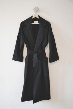 SPRING TRENCH - black — BONESET STUDIO Trench, Organic Cotton, Fitness Models, Dressing, Studio, Spring, How To Wear, Jackets, Black