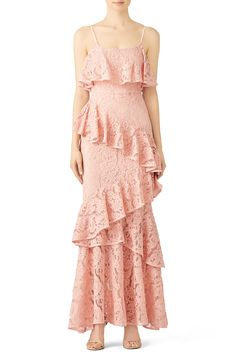 Buy Hushed Dove Lace Gown by Cooper Street for $39 from Rent the Runway.