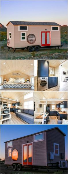 How Do You Fit a Mansion in 270 Square Feet? Come See for Yourself! {Tiny House Tour 11 Photos} - Uncharted Tiny Homes out of Phoenix, Arizona decided they wanted to design and build a mansion fit for a king (or queen). The only catch? They wanted to do it on a trailer and under 300 square feet! Somehow, they managed to do not only that, but they also have one of the finest tiny houses with amenities you won't believe!