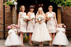 A Full Circle Skirt Wedding Dress For a Pretty Village Wedding Celebration