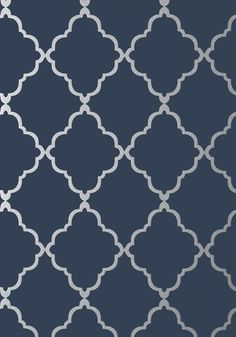 KLEIN TRELLIS, Silver on Navy, Collection Seraphina from Anna French