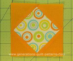 3 ways to make a Diamond in a Square quilt block: Cut your patches with a rotary cutter or templates or specialty ruler. Free cutting chart download.