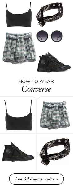 """""""Untitled #252"""" by aliinnnaaa on Polyvore featuring Converse and Alice + Olivia"""