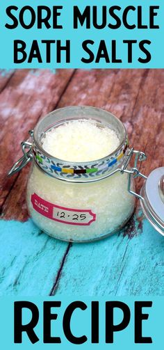Pain Relief Bath Salts Recipe with essential oils and Epsom salt to soothe sore muscle pain. Learn how to craft DIY bath salts with this simple, natural skin care recipe with Epsom salt and organic essential oils for a relaxing bath time experience. A natural pain remedy, these DIY Epsom bath salts contain pain relieving magnesium that makes them perfect for a long soak in the tub. Get some self care in today and make this natural home remedy for pain relief. #painrelief #bathsalts #diyskincare