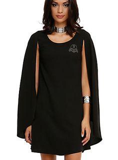 Star Wars Darth Vader Cape Dress, BLACK