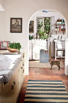 Inside Model Carolyn Murphyu0027s Rustic, French Countryu2013Style Home In L.A..  Kitchen FloorsKitchen ArtKitchen DesignBest ...